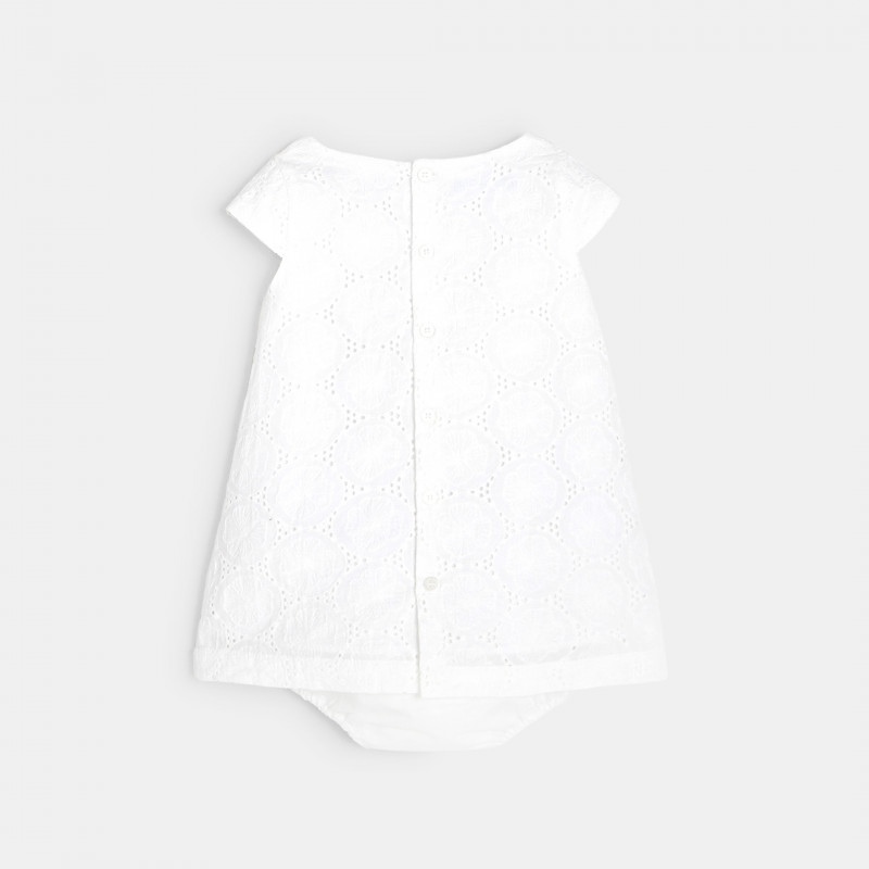 Robe chic broderie anglaise blanche