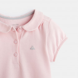 Polo maille piquée micropois